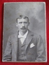 """Vintage Real  Photo of a Man 1900""""s On a Cardboard back - $4.95"""