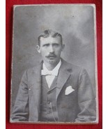 "Vintage Real  Photo of a Man 1900""s On a Cardboard back - $4.95"
