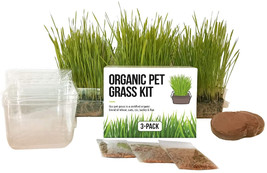 Cat Grass Growing Kit - 3 Pack Organic Seed, Soil and BPA Free containers (Non G - $19.99