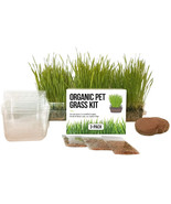 Cat Grass Growing Kit - 3 Pack Organic Seed, Soil and BPA Free container... - $19.99