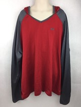Kids Reebok Red and Gray Hooded Long Sleeve Athletic Shirt Size XL - $14.84