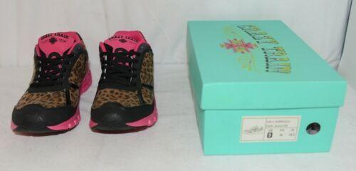 Crazy Train RUNWILD14 Black Pink Cheetah Sneakers Size 9
