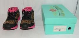 Crazy Train RUNWILD14 Black Pink Cheetah Sneakers Size 9 image 1