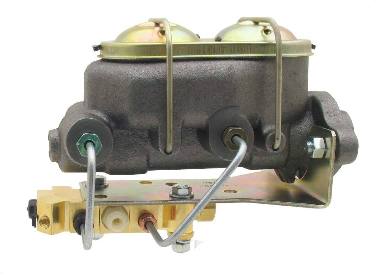 """Disc Master Cylinder 1-1/8"""" Bore 2 Port w/ Bottom Mount Proportioning Valve"""