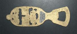 Vintage Israel Judaica Bottle Opener Bronze Enamel God Bless Our Home 1960's image 2