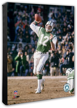 Joe Namath New York Jets Vintage QB -16 x 20 Photo on Stretched Canvas - $94.95