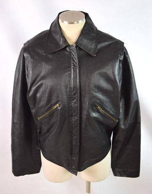 381b7999d Vintage 90s Black Leather Crop Retro Grunge and 50 similar items