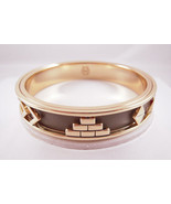 House of Harlow 1960 14KT Y/G Plated Khaki Aztec Bangle NEW - $40.10