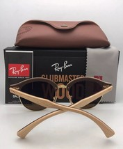 New RAY-BAN Sunglasses CLUBROUND RB 4246 901 51-19 145 Black & Gold w/Gr... - $169.95