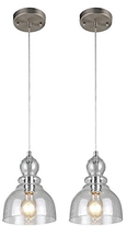 Westinghouse CD-0197 Industrial One-Light Adjustable Mini Pendant with Handblown - $52.05