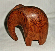 "Wooden Elephant Hand Carved Sculpture Figurine Collectible 3 1/2""  Home ... - $11.39"
