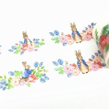 Rabbit Washi Tape, Flowers Washi Tape - $3.50