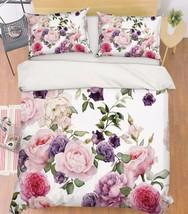 3D Camellia 213 Bed Pillowcases Quilt Duvet Cover Set Single Queen King Size AU - $90.04+