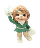 OOAK Smileys Cheerleader with Pom Poms Figurine Retro School Collectible - $3.25