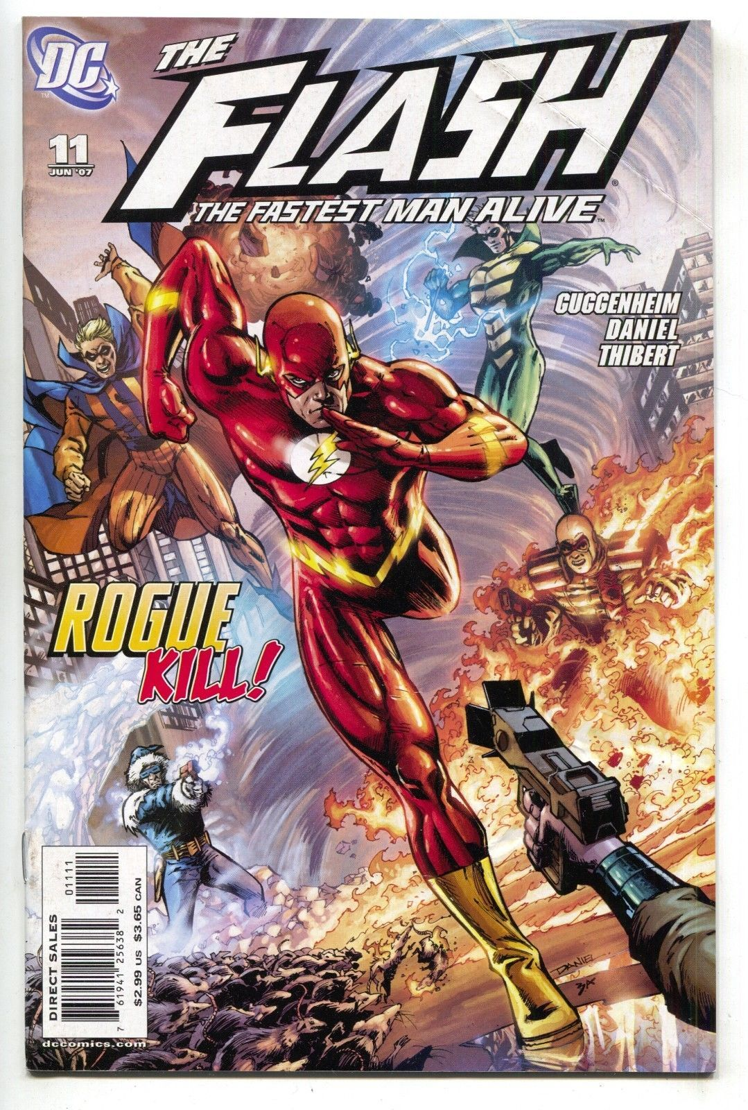 Flash The Fastest Man Alive 11 B DC 2007 FN VF Ethan Van Sciver Variant