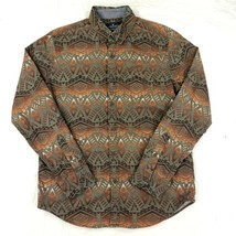 American Eagle Mens Seriously Soft Button Shirt Aztec Tribal Long Sleeve... - $21.67