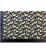 Llama Cacti Multi Black 100% Cotton High Quality Fabric Material *3 Sizes* - $1.79+