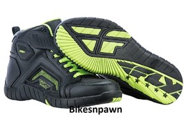 New Sz 12 Mens FLY Racing M21 Black/Hi-Vis Leather Motorcycle Street Riding Shoe image 2