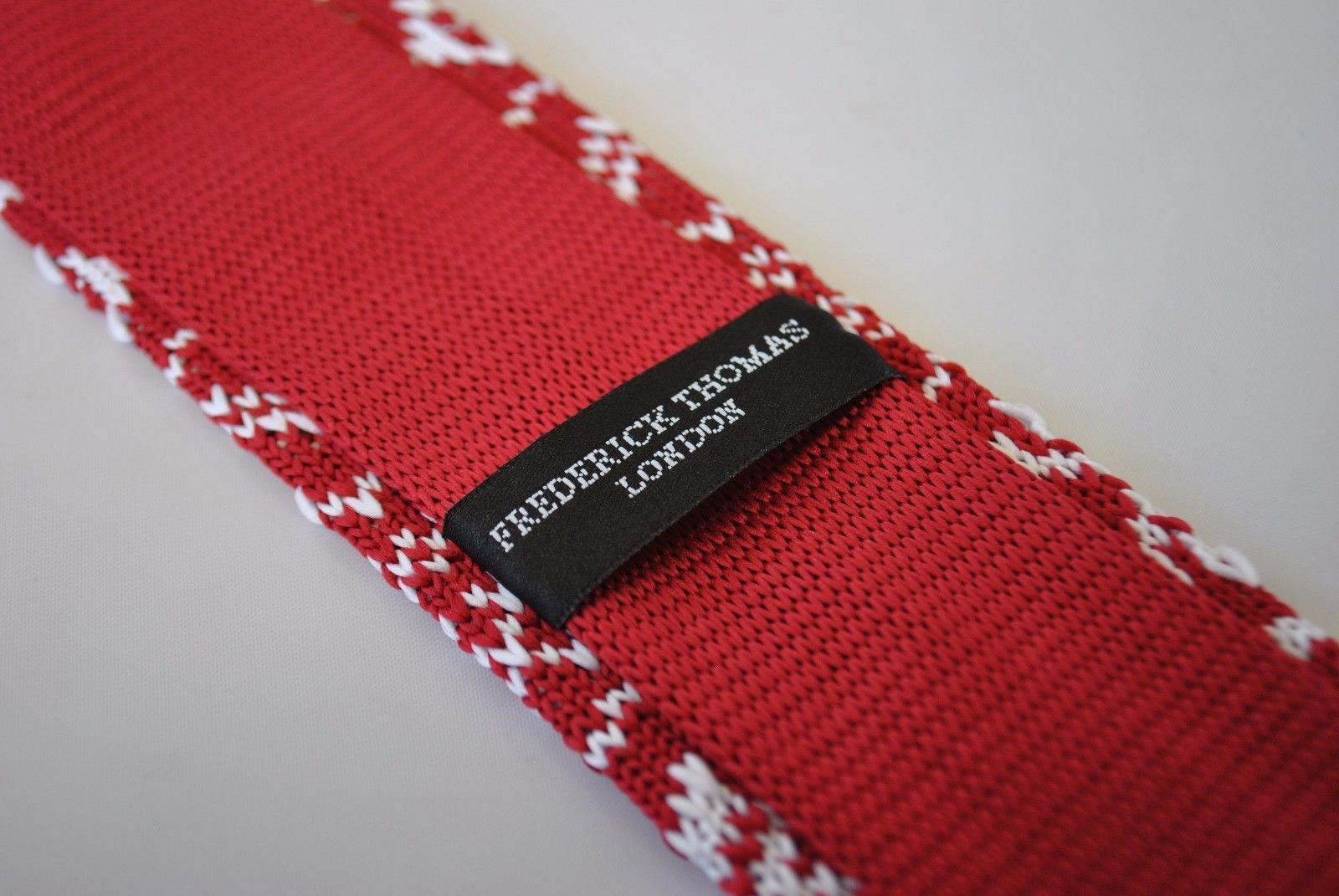 Frederick Thomas rot Skinny Weihnachts Pullover Style gestrickt ft2116