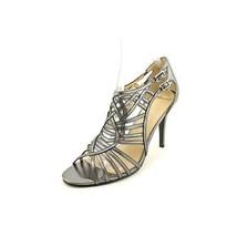 Marc Fisher Stylin Women US 6.5 Silver Sandals - $40.10