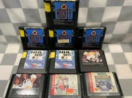 Posten von 10 Sega Genesis Hockey NHL Video Spielmodul Brett Hull Gretzkey Mario - $20.82