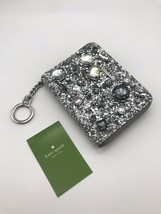 NWT Kate Spade Dani Lane Sliver Glitter Jeweled Zip around Wallet - $49.99