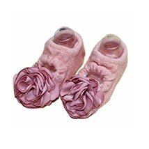 2 Pairs Baby Girl Socks Anti-Slip Foot Socks for 6-18 Months Infants/Toddlers