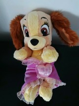 "Disney Lady And the Tramp Blanket Plush Lovey Dog Babies Pink Soft 12"" Long - $16.39"