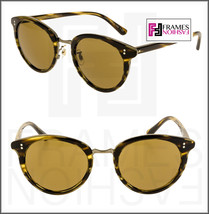 Oliver Peoples Spelman OV5323S Cocobolo Gold Cosmik Retro Round Sunglasses 5323 - $267.30