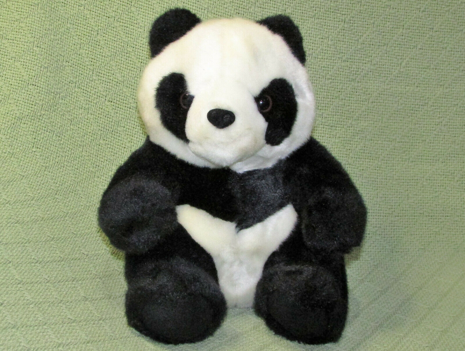 "Primary image for 10"" GRAND HYATT PANDA PLUSH BEAR CUB BEIJING STUFFED ANIMAL BLACK WHITE CHUBBY"