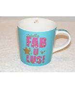 CIROA TOTALLY FABULUS! 12 OZ TURQUOISE BLUE NEW BONE CHINA COFFEE MUG (G... - $24.99
