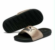 Puma Cool Cat Slides Sandals Black Rose Gold size Girls13C NWT Kids Unisex - $19.75
