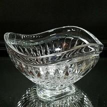 "1 (One) MIKASA CIMERRON Cut Crystal 5"" Triangular Candy Dish Bowl 1994-2002 - $9.92"