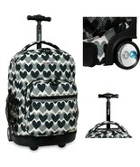 Rolling Backpack Kids Wheeled School Bookbag College Bag Carry On Travel... - $74.24