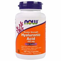 Now Foods Hyaluronic Acid Double Strength 100 mg, 120 Veg Capsules - $32.99