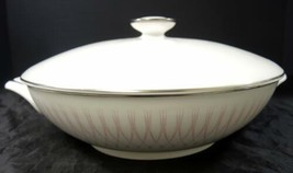 Retro Mid Century Royal Doulton Covered Vegetable * Pink Radiance Pattern - $33.24