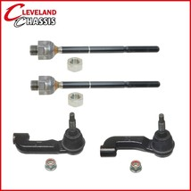 Kit Front 2 Outer 2 Inner Tie Rod Ends Jeep Liberty 4Wd 02-04 - $49.01