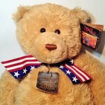 GUND Patriotic Wish Teddy Bear 100th Anniversary Plush Brown 2002 May De... - $59.99