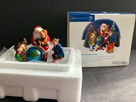 Dept 56 Santa Comes To Town St. Nick, Children, Globe Spins - $29.69
