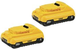 DEWALT DCB240-2 20V MAX 4Ah Compact Lithium Ion Battery (2 Pack) - $125.79