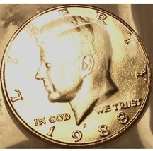 1988-P Kennedy Half Dollar BU In the Cello #0858 - $3.39
