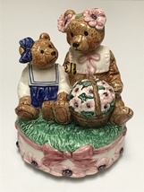 Schmid Teddy Bear Music Box 1993 Mother Daughter Just the Way You Are - $58.99