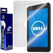 ArmorSuit MilitaryShield Dell Venue 7 Screen + White Carbon Fiber Skin! NEW - $34.99