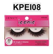 I ENVY BY ICONIC COLLECTION 3D ANGLE & VOLUME EYELASHES # KPEI08 GLAM ICON - $3.75