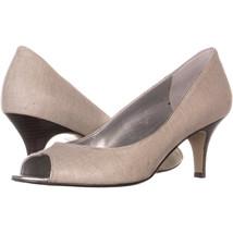Bandolino Shelley Peep Toe Heels 535, Off-White, 9.5 US - $26.87