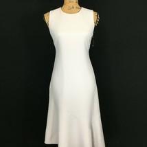NEW Anne Klein Dress 4 Sm Grey Long Pencil Fit Flare Asymmetric Hem Sexy $139 image 2