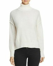 NEW H. ONE Split Off White Back Turtleneck Acrylic Wool Knit Sweater XL MSRP image 1