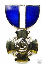 USN NAVY CROSS MILITARY MEDAL LAPEL HAT PIN - $13.53