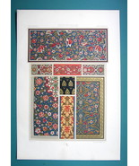 INDO-PERSIAN 16th C Decoration Floral Ornaments - COLOR Litho Print A. R... - $30.60
