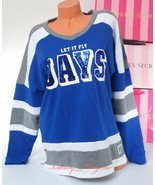 PINK VS Collegiate Collection Sequins Bling JAYS Crew Sweatshirt Jacket ... - $47.99